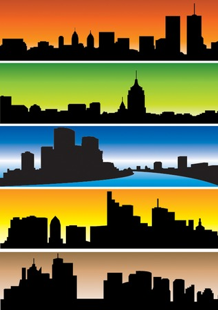 skylines: Skylines. Set. Vector illustratiom for you design