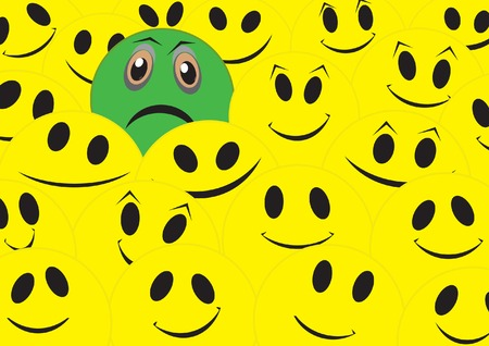 Sad smile Vector