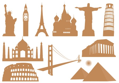 arches national park: Landmark Icons Illustration