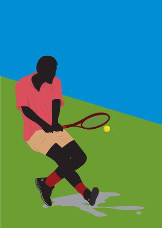 Tennis player Stock Vector - 5819894