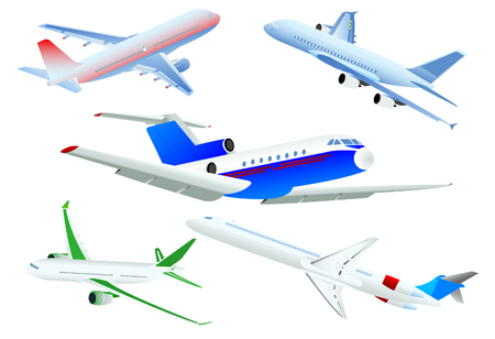 view from the plane: Passenger planes Illustration