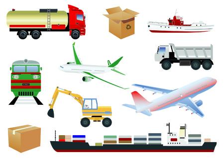 Transportation set Illustration