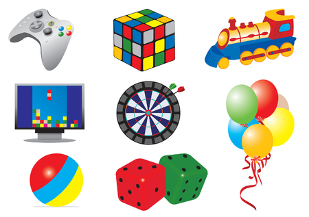 Games & toys icons Stock Vector - 6160735