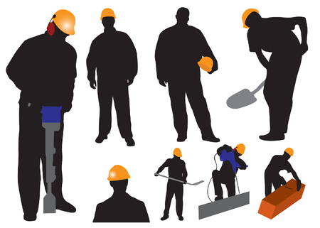 manuals: Silhouettes worker