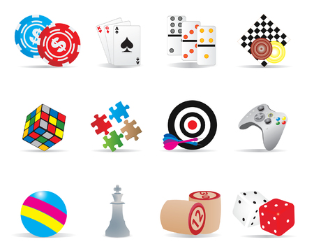 leisure games: Game icons
