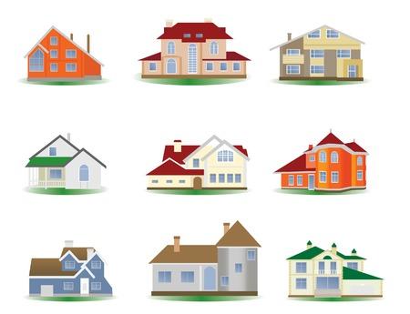porch: Houses. Set.illustration for you design