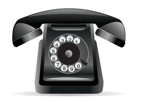 speakerphone: Classic Black Phone. illustration for you design