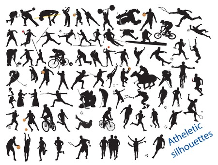 relaxation exercise: Action Packed Sports. illustration for you design