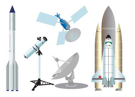 espaço: Space elements.  illustration for you design Ilustração