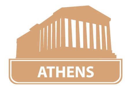 Athens outline. Vector illustration for you design  Stock Vector - 6563227
