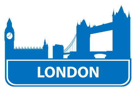 london tower bridge: London outline. Vector illustration for you design