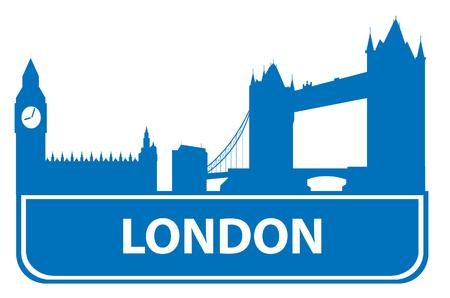 built tower: London outline. Vector illustration for you design