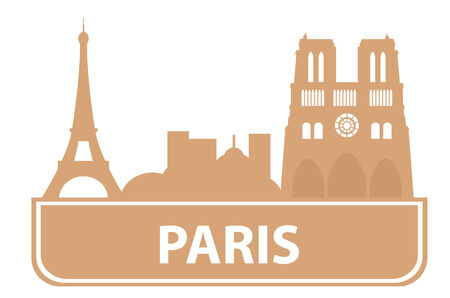 moscow churches: Paris outline. Vector illustration Illustration