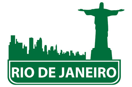 brasilia: Rio outline. Vector illustration