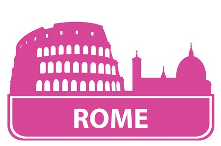 rome italy: Rome outline. Vector illustration  Illustration