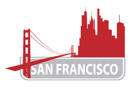 francisco: San Francisco outline. Vector illustration