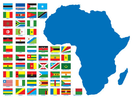 African flags. Vector illustration