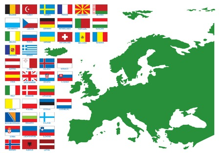 slovakia flag: Flags of Europe. Vector illustration