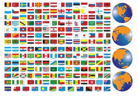 flagge auf land italien: Flags der L�nder. Vektor-Abbildung