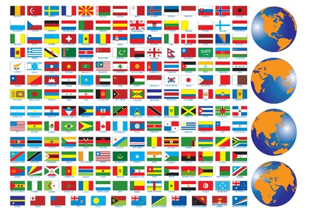 Flags of the countries. Vector illustration  Illustration