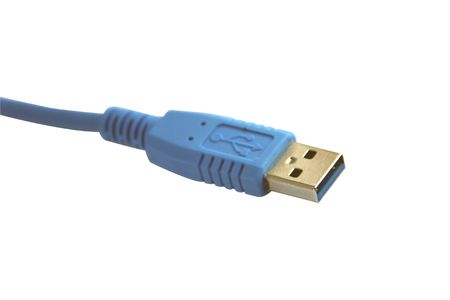 USB cable on white background photo