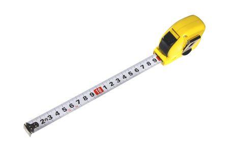 Measure tape on white background photo