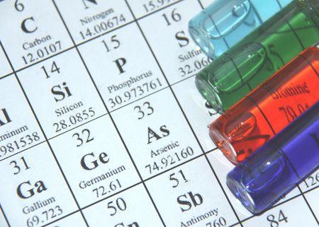 Chemistry. Test tube series photo