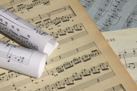 Sheets of musical symbols Stock Photo - 6892931