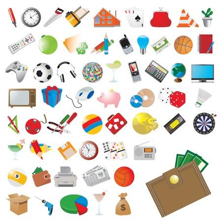 valise: Icons set.
