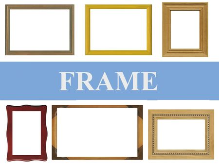 Frames on white background Stock Photo - 6999326