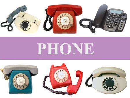 Phones on white background Stock Photo - 6999327
