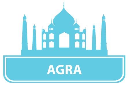 agra: Agra outline.  illustration Illustration