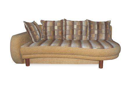Comfy sofa. Isolated on white background  photo