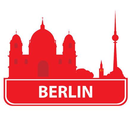 Berlin skyline.  Vector