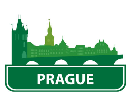 Prague skyline.  Vector