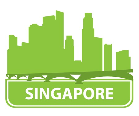 singapore city: Singapore skyline.