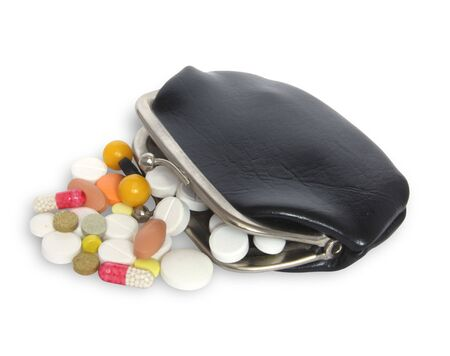 baclground: Wallet and  tablet on white baclground Stock Photo
