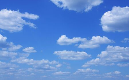 Blue sky and clouds. Background for you design photo