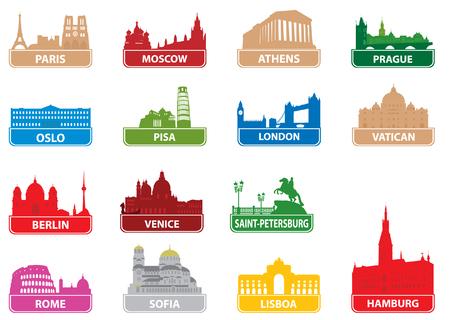 vatican city: Symbols european city.