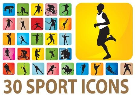 golf stick: Iconos de deporte.