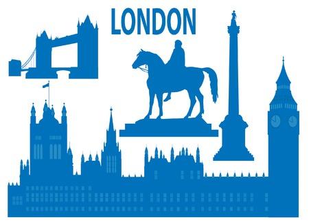 London skyline. Vector illustration  Vector