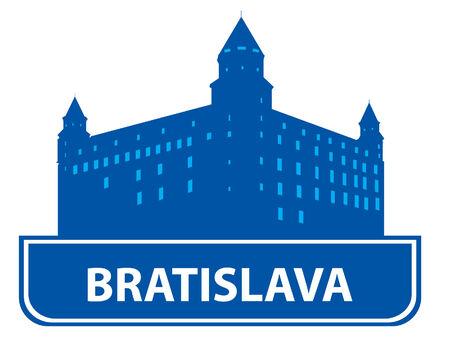 bratislava: Bratislava skyline. Vector illustration