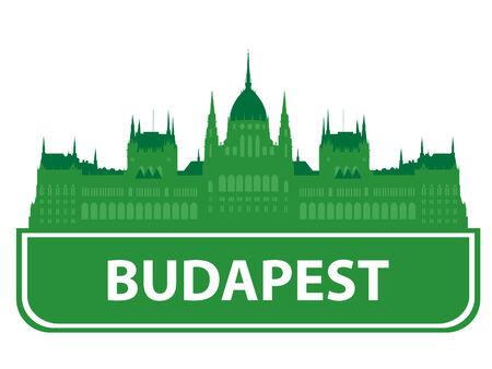 Budapest skyline. Vector illustration  Stock Vector - 7943541