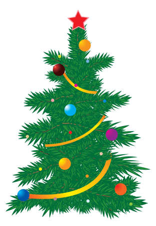 Vector illustration of a Christmas tree Vector