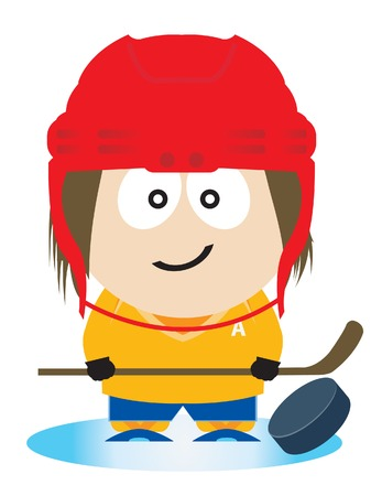 Ice hockey player. Vector illustration Stock Vector - 8450737