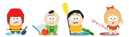 Athletes. Vector illustration Vector