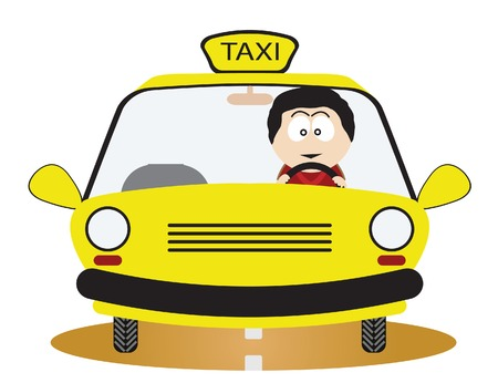 taxi sign: Taxi Driver. Illustration