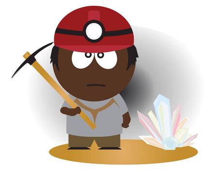 ocupacional: Minero. ilustraci�n