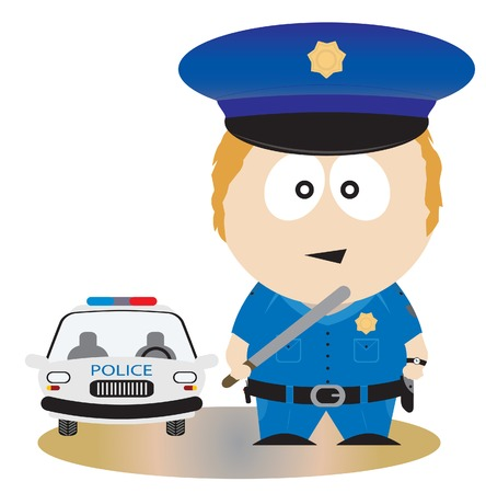 Police Officer.  illustration Vector