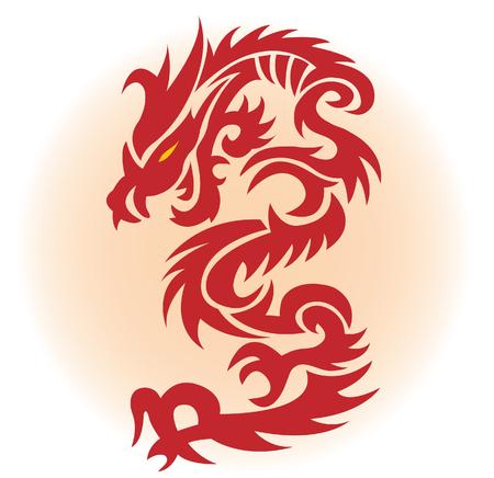 Red dragon. illustration for you design Vector